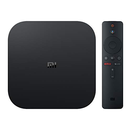 Xiaomi MI TV BOX S – Reproductor streaming en 4K Ultra HD, Bluetooth, Wi-Fi, Asistente de Google con Chromecast, Negro