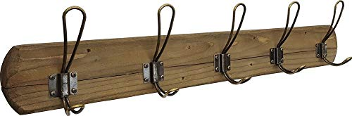 Acacia Grove Rustic Wall Mounted Coat Rack - 5 Distressed Hooks ()