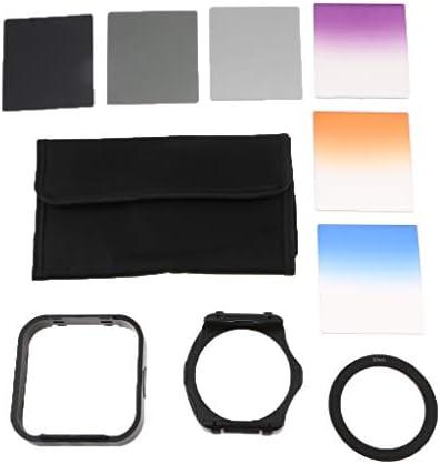 カメラレンズ NDフィルターセット(10個) オレンジ/ブルー/パープル/グレー カラーフィルター - 67mm