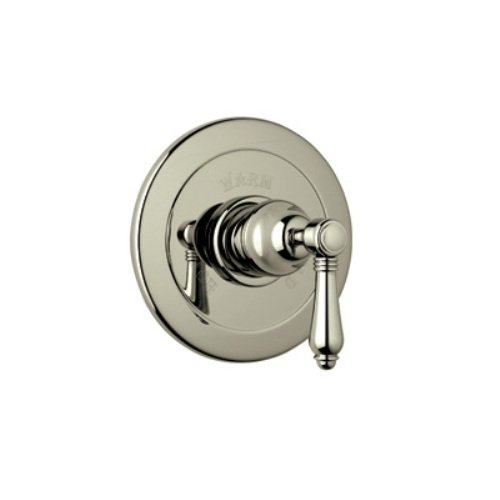 Rohl A6400LMSTN Country Bath Trim Kit for Pressure Balance with Integrated Volume Control, with Metal Lever and Without Diverter, Satin ()
