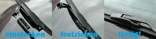 ab 2008-1 Satz Flach Wischer Set Premium HCL/® 2X Flex//Flat Scheibenwischer f/ür Splash