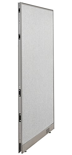 """GOF Single Office Partition, Large Fabric Room Divider Panel, Custom Built Workstation 36"""" W x 72"""" H"""