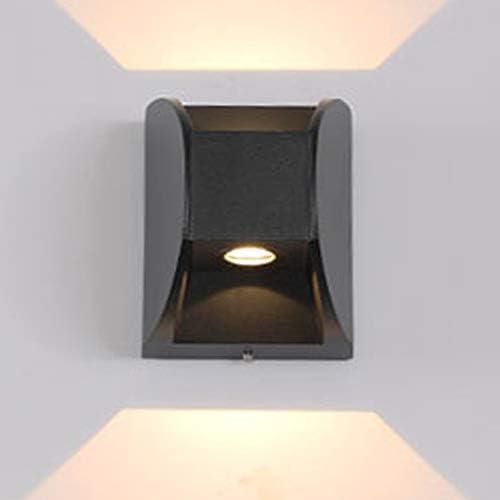 LSWZZ Draussen Wasserdicht Wandleuchte Modern LED Treppenhaus Gang Beleuchtung, Acryl Schwarz Mattiert Lampenschirm Aluminium Dekoration Wandlampe, für Hotel Haustür Wand Lichte