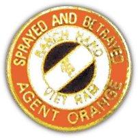 Vietnam Agent Orange Lapel Hat Pin - Us Army Veteran Hat Pin