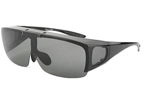 669a750d8dc Bestum Driving Glasses Wraparounds Polarized Fitover Sunglasses (Matte black