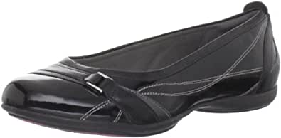 privo Women's Pursuit Life Ballet Flat,Black Patent,5.5 M US