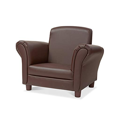 """(Melissa & Doug Child's Armchair, Coffee Faux Leather (Children's Furniture, Armchair for Kids, Sturdy Construction, 18.3"""" H x 23"""" L x 17.5"""" W))"""