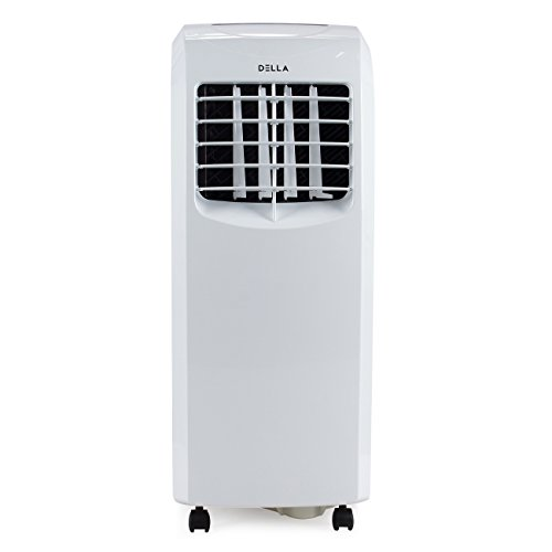 Della 8,000 BTU Portable Air Conditioner Cooling Fan Dehumidifier A/C Remote Control + Window Vent Kit, White (Portable Conditioner Air Indoor)
