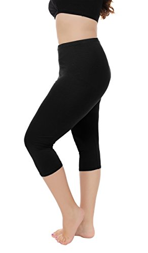 Women's Plus Size Capri Leggings 3/4 Length Leggings Modal Comfortable Leggings