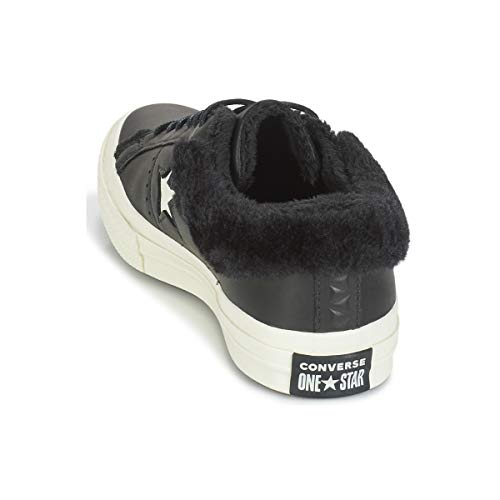 Converse Negro Leather Moda One 39 Mujeres Bajas Ox Zapatillas Star qqrSang
