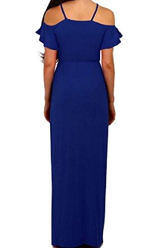 Split Custom Evening Shoulder Solid Fit Blue Dresses Off Coolred Women Party wqCp4BnxA