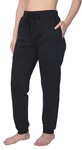 - Beverly Rock Woman Sweatpants Fleece Pants Close Bottom Drawstring CB_LFPO1_18 Black 4X