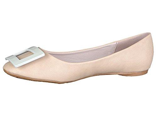 Ana Lublin Damen Schuhe Ballerinas beige -38