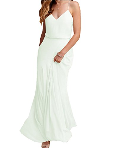 Bridal Spaghetti Strap Bridesmaid Dress - 6