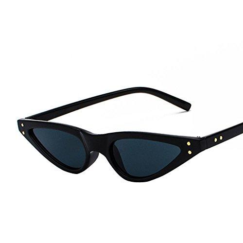 Aoligei Europe et Amérique Street beat rouge Lunettes de soleil lunettes de soleil triangulaire couleur d'oeil du chat Retro transparent XZe5d3DMmW