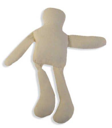 "5"" Tall Stuffed Natural Muslin Gender Neutral Craft Dolls- Package of 6"