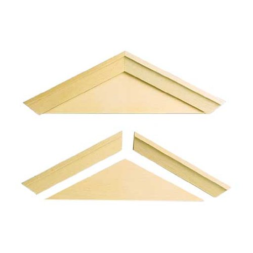 (Dollhouse Miniature Playscale Window Pediments)