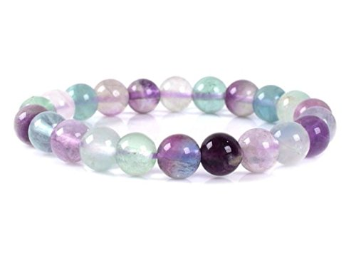Top Quality Natural Multicolor Fluorite Gemstone Bracelet 7