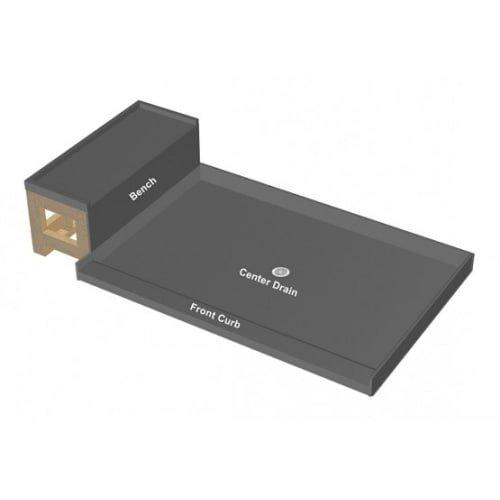 Tile Redi USA P3248C-RB32-KIT Base'N Bench Shower Pan