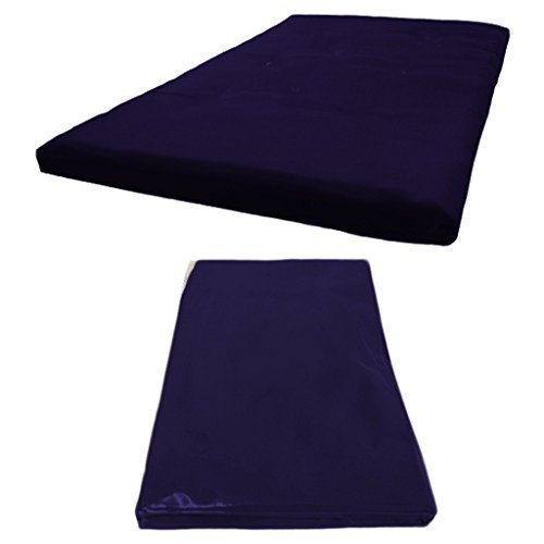 Futon Mattress COVER ONLY, Double 2 Seater in Navy Blue. Available in 11 Colours Matching Bedroom Sets