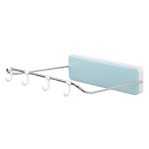 - Kimanli Folding Washbasin Stand Wall Mounted Washbasin Storage Rack (Sky Blue)