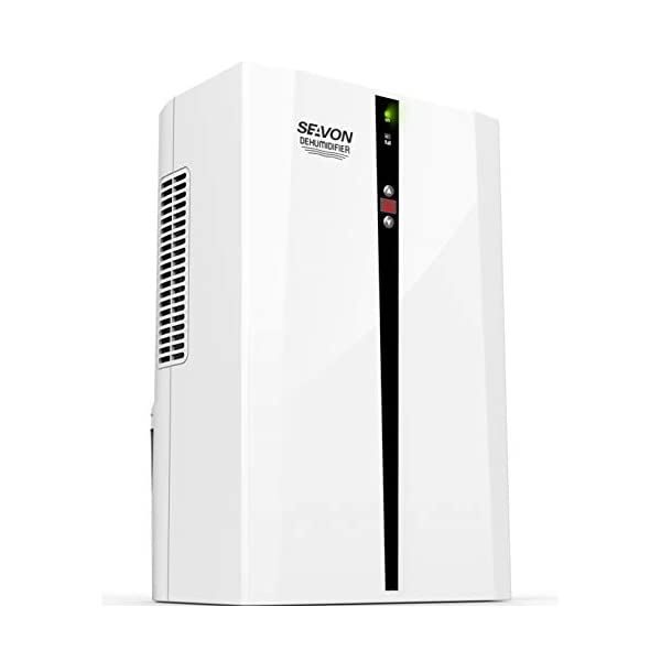 SEAVON Electric Dehumidifier for Home, 2200 Cubic Feet(270 sq ft) MD-898 2000ml (68 oz) Capacity, Quiet Safe Dehumidifiers for Apartment, Bedroom, Bathroom, RV, Closet, Auto Shut Off