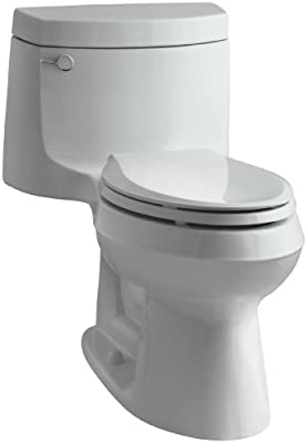 Kohler K-3828-95 Cimarron Comfort Height Elongated Toilet, Iced Gray, 1-Piece