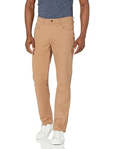 Amazon-Marke: Goodthreads Herrenhose, gerade Passform, 5-Pocket, mit komfortablem Stretch, Chino-Stil, Khaki, 35W x 29L