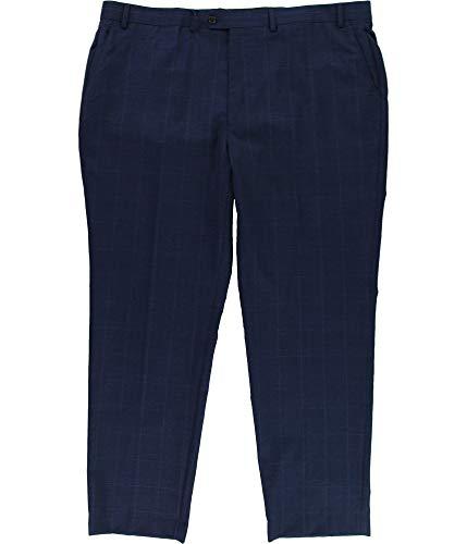 - Lauren Ralph Lauren Men's Classic-Fit Ultraflex Navy Plaid Suit Pants (Navy, 40x34)