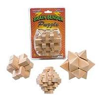 Curvados cerebrales: rompecabezas de madera para doblar la mente: un rompecabezas variado