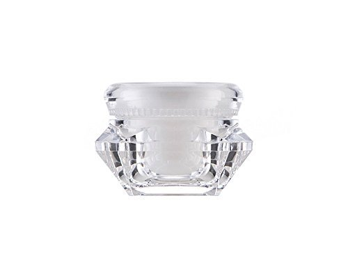6PCS 15ML Empty Quadrangle Acrylic Cosmetic Cream Lotion Jar Pot Container with Liners and Screw Cap Lid Transparent