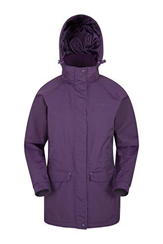 Mountain Warehouse Glacier Extreme Womens Long Waterproof Jacket Purple 6