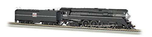 Bachmann GS64  4-8-4 Western Pacific #485 DCC Equipped Locomotive (HO Scale) (Engines Locomotives Steam)