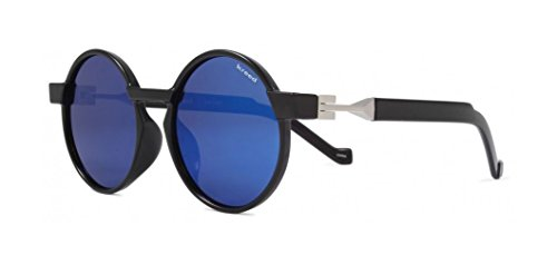 Kreed Shout Sunglasses - Men's Gloss Black & Smoke with Lux Blue - Sunglasses Kreed