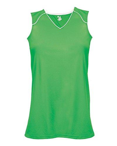 - Lime/White Ladies Medium Performance Sports Wicking Jersey