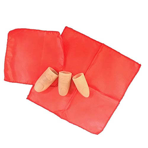 Magic Top Secret Thumb Tip Kit with a Red Silk