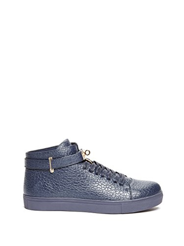 G by GUESS Mens Dwayne Faux-Leather Sneakers Navy Blue XmAXE