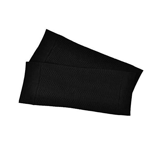 耐えられないバイバイいたずら1ペア680 d圧縮アームシェイパーワークアウトトーニングバーンセルライト痩身アームスリーブ脂肪燃焼半袖用女性(Color:black)