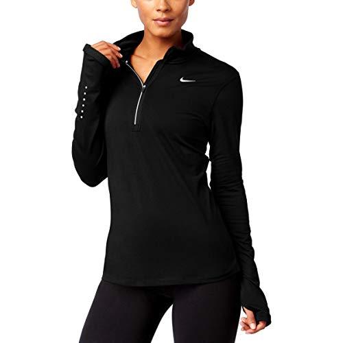 - Nike Womens Stay Warm Dri-Fit Fitness 1/4 Zip Pullover Black M