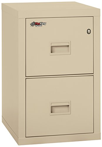 Fireking Turtle 2R1822-CPA One-Hour Fireproof Vertical Filing Cabinet, 2 Drawers, Legal or Letter 18