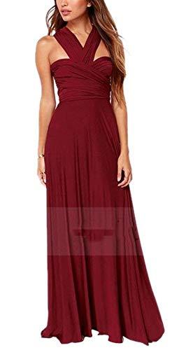 Per E Maxi Sera Da Donna Abito Sexy Wine Senza Red Maniche Elegante Starsace qIwZC0nw