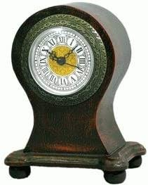 WD Made of Wood Real Antique Look Round Top Clock, 7-inch