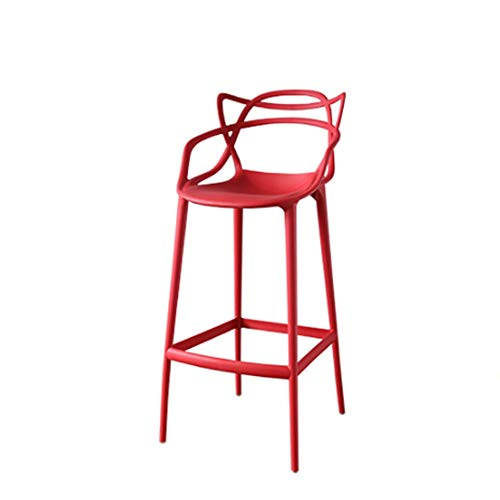 - Bar Chair Cat Ears Bar Stool for Bar Restaurant Cafe Modern High Stool Bar Chair for Kitchen Breakfast Plastic Stool with Footrest Bar Stool Suitable for Bar Cafe Restaurant and Business