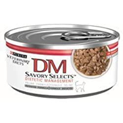 Purina Veterinary Diets Feline (Savory Selects) DM Dietetic Management - 24x5.5oz