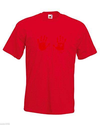 Vampire Walking Chemise Hasard Sanglant Chemises Modèle shirt De Rouge Avec Drôle Décalque Mains Dead Cadeau T Sang Hommes Main Gratuit Au 8wfqOxZSC