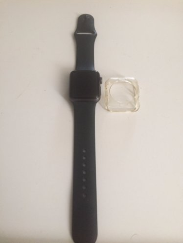 Apple Watch Series 2 38mm Space Gray Aluminum Case with Black Sport Band by Apple (Image #2)