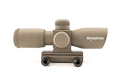 Monstrum Tactical 4x30 Ultra-Compact Rifle Scope with Illuminated Range Finder Reticle by Monstrum Tactical