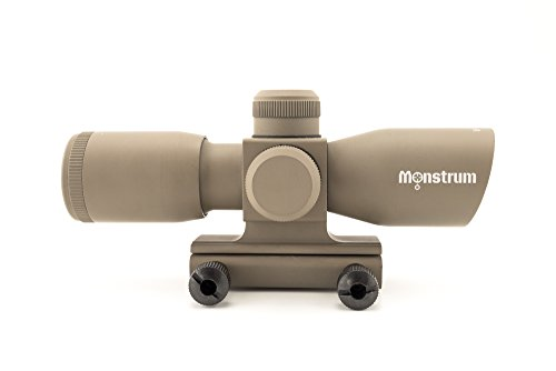 Monstrum Tactical 4x30 Ultra-Compact Rifle Scope with Illuminated Range Finder Reticle (Flat Dark Earth) (Ar 15 300 Blackout Suppressor For Sale)