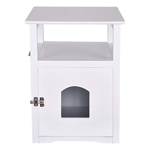 Pentaero 52X49X63.5 Cat Side Table Pet Bedside Cabinet Crates, Decorative Cat House Side Table Pet Nightstand Crate Cat…