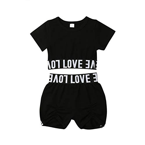 Fashion Toddler Kids Crop Tee Top T Shirt